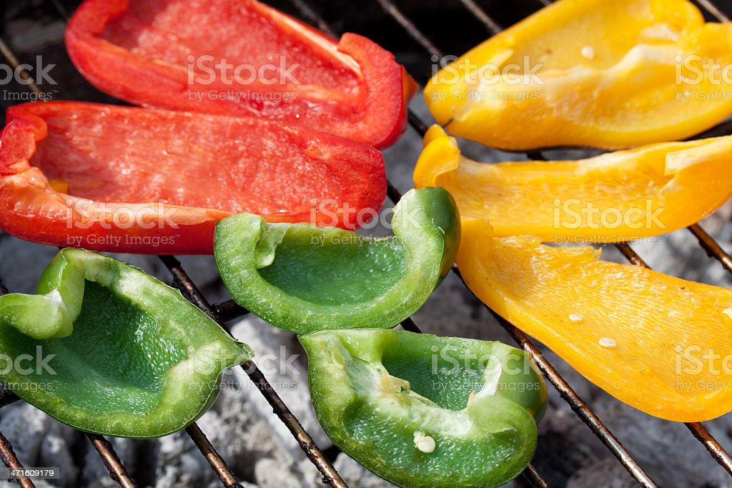gegrillte paprika stock photo
