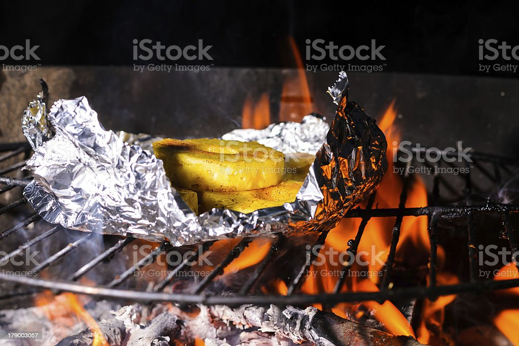 Grilled Pineapple royalty-free stock photo