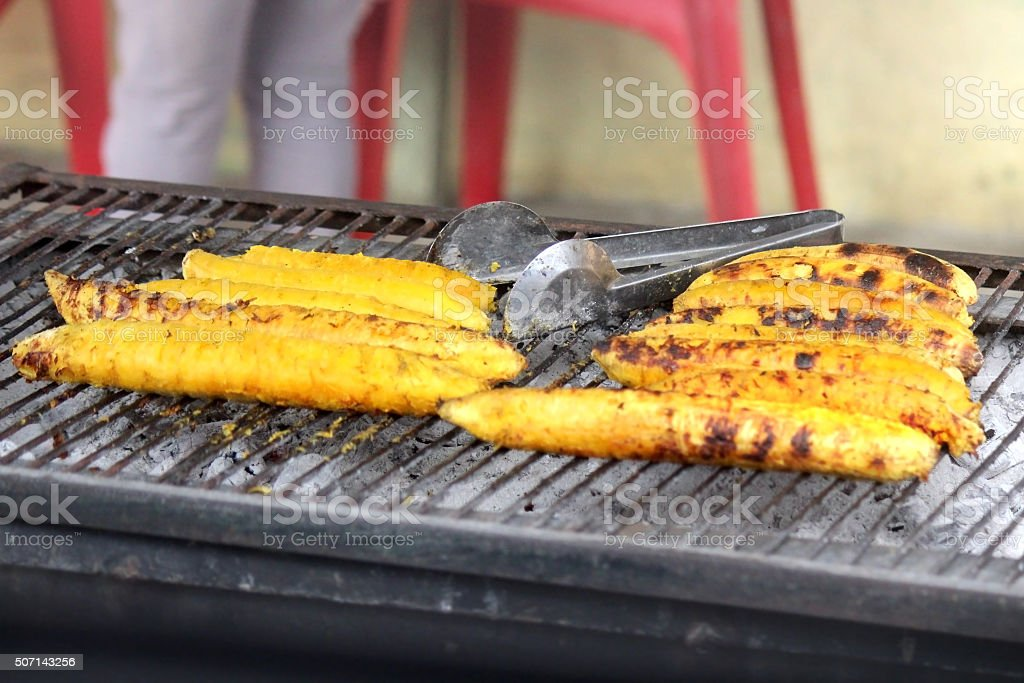 Grilled Plantains stock photo