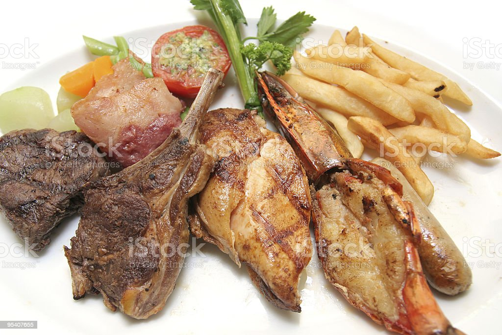 grilled platter royalty-free stock photo