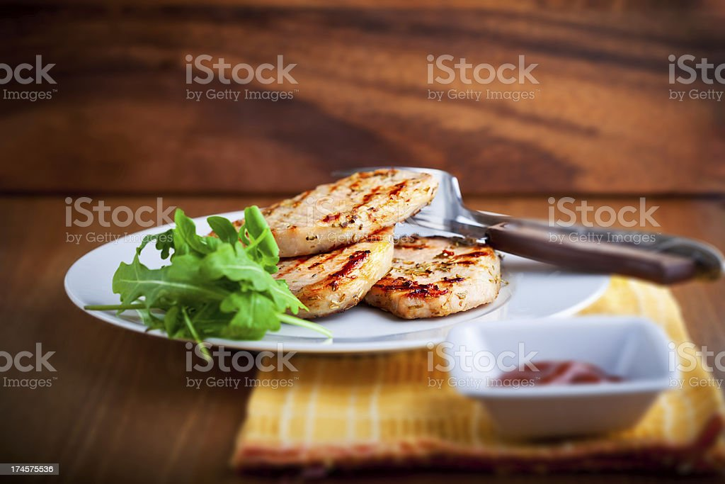 Grilled Pork Chop royalty-free stock photo