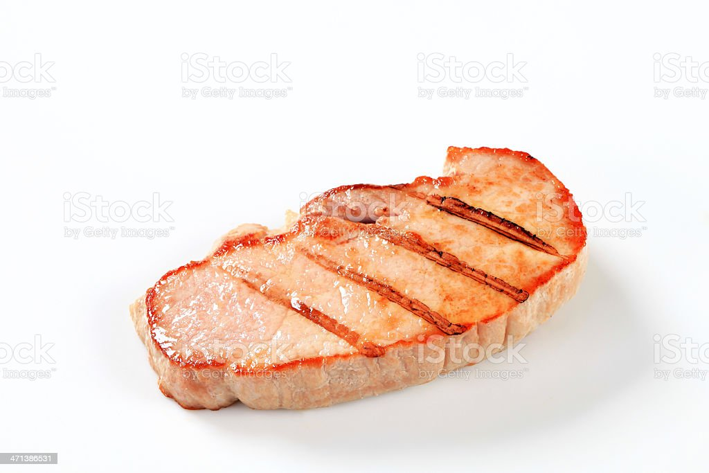 Grilled pork cutlet royalty-free stock photo