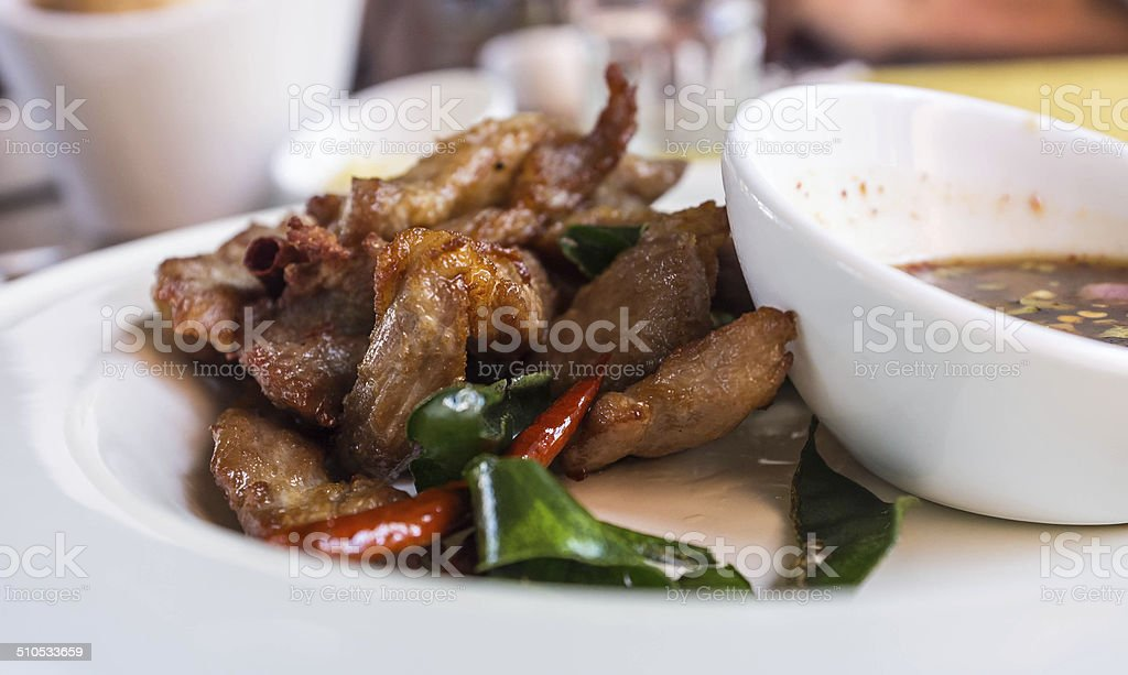 Grilled Pork in Thai Style stock photo
