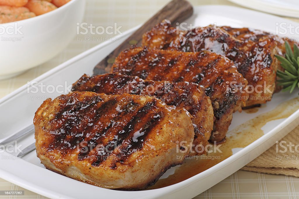 Grilled Pork Loin stock photo