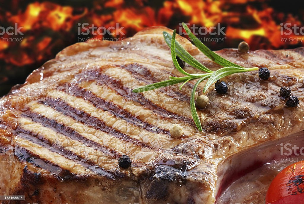 grilled pork meat royalty-free stock photo