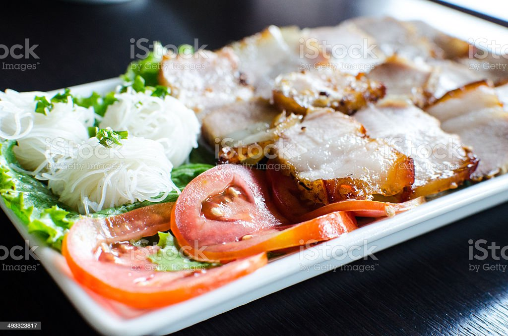 Grilled pork neck - Vietnamese food royalty-free stock photo