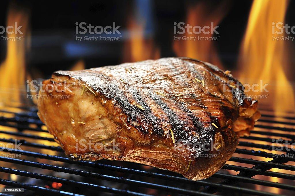 Grilled pork stock photo