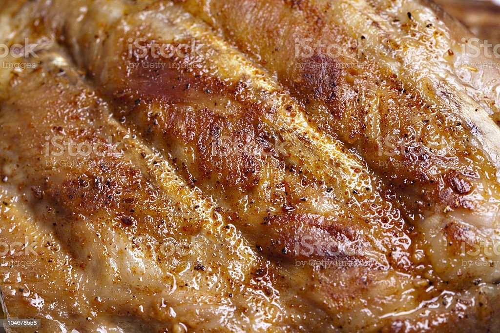 Grilled pork ribs royalty-free stock photo