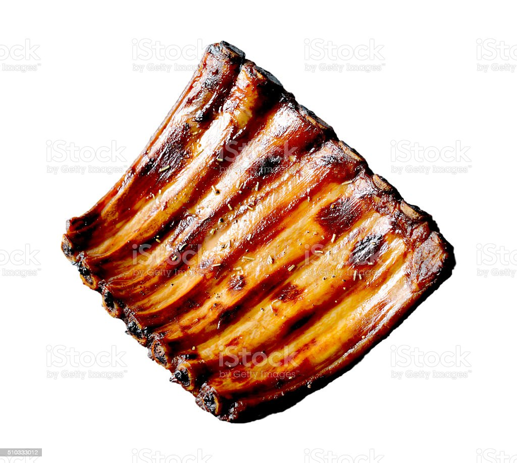 Grilled pork ribs stock photo
