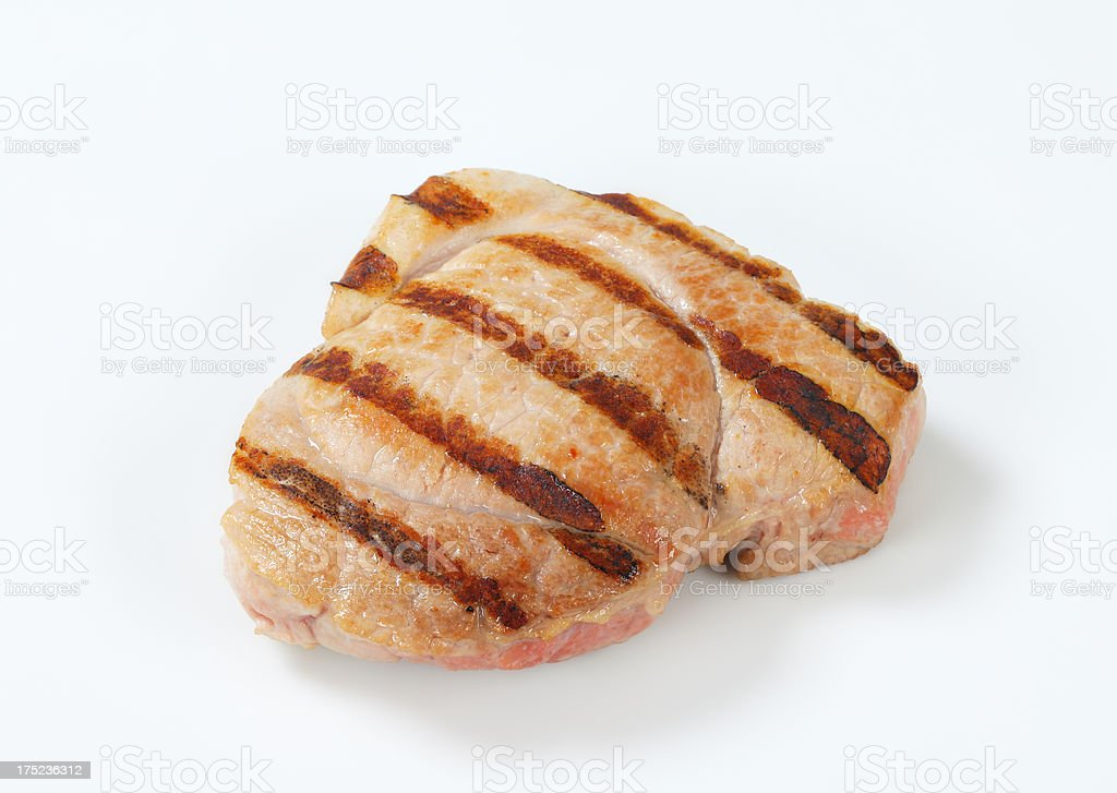grilled pork steaks royalty-free stock photo