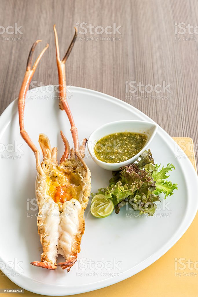 Grilled Prawn stock photo