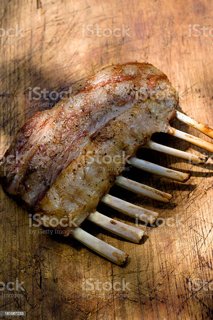 Grilled  Rack of Lamb royalty-free stock photo