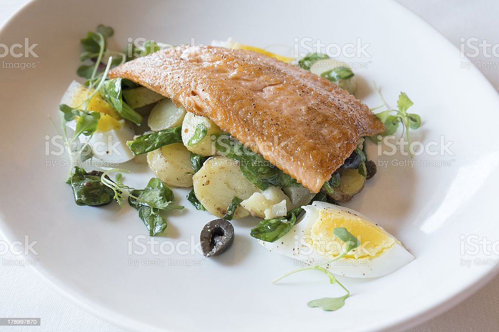 Grilled Rainbow Trout Filet royalty-free stock photo