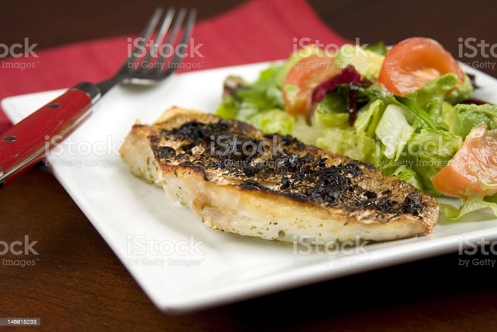 Grilled Red Snapper stock photo