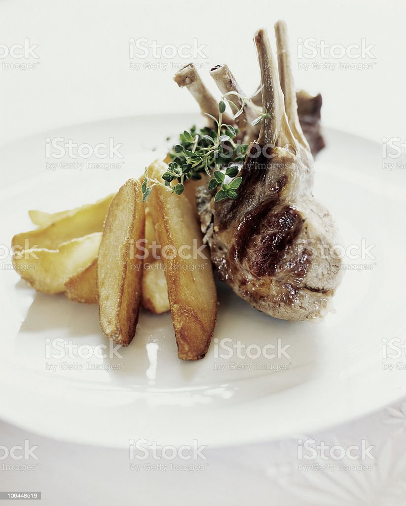 grilled rib royalty-free stock photo