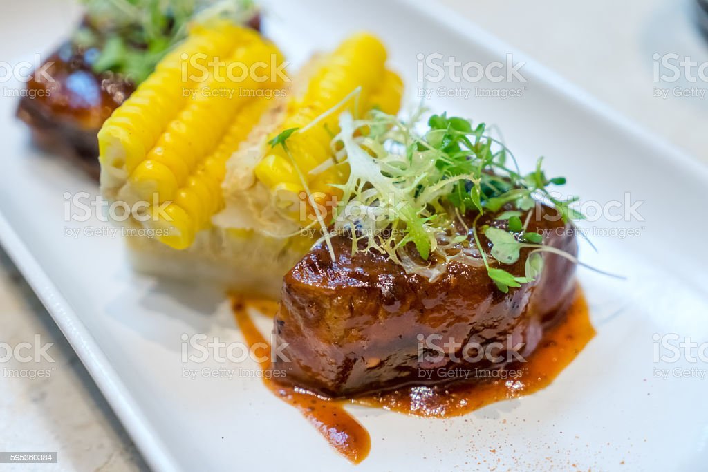 Grilled Rib-eye Beef Steak stock photo