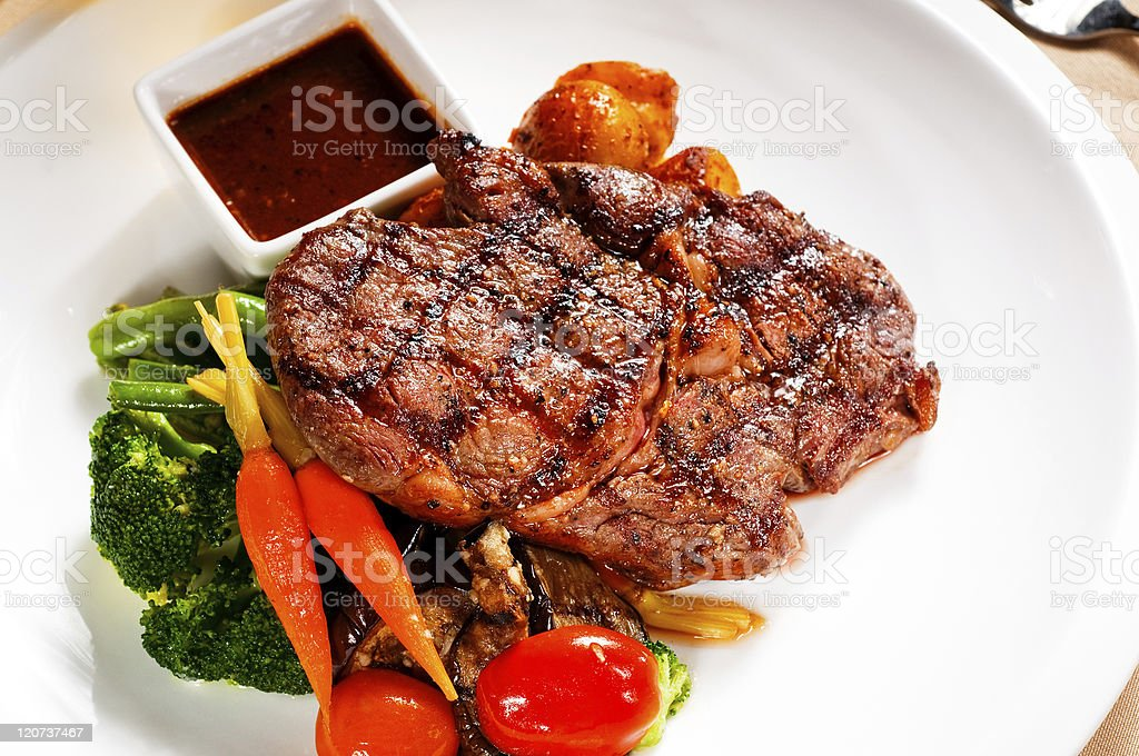 grilled ribeye steak royalty-free stock photo