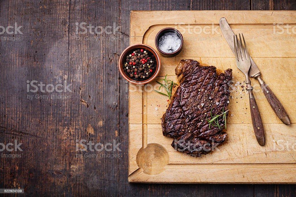 Grilled Ribeye Steak stock photo
