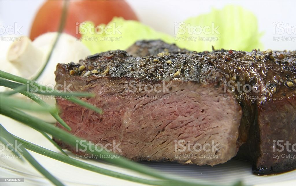 grilled Ribeyesteak stock photo