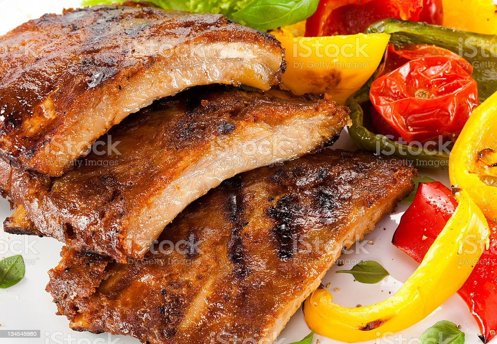 Grilled ribs royalty-free stock photo