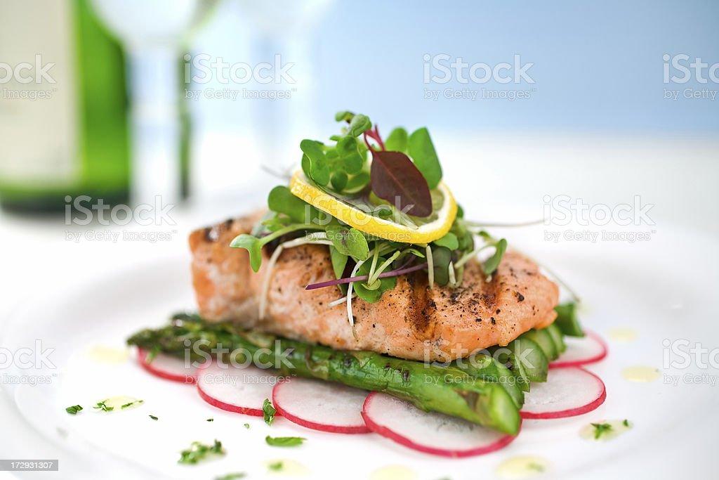 Grilled Salmon stock photo