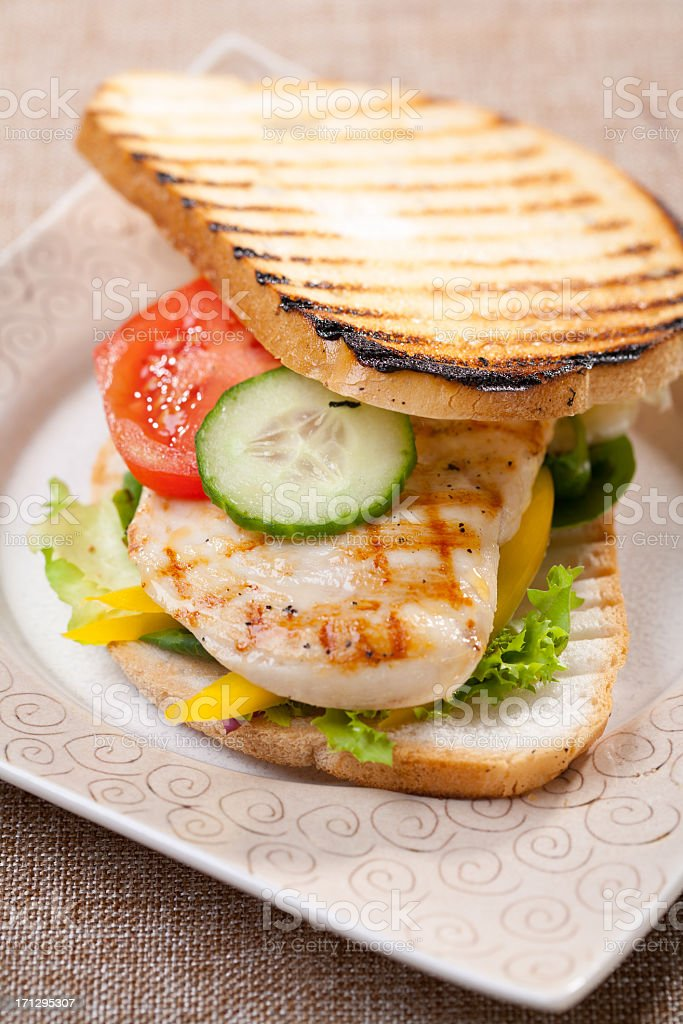 Grilled sandwich royalty-free stock photo