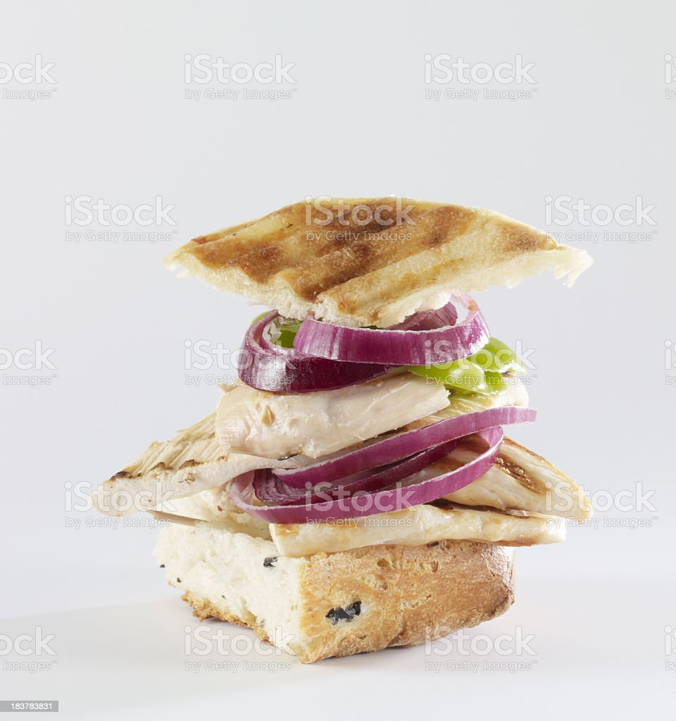 Grilled Sandwich with Salad royalty-free stock photo