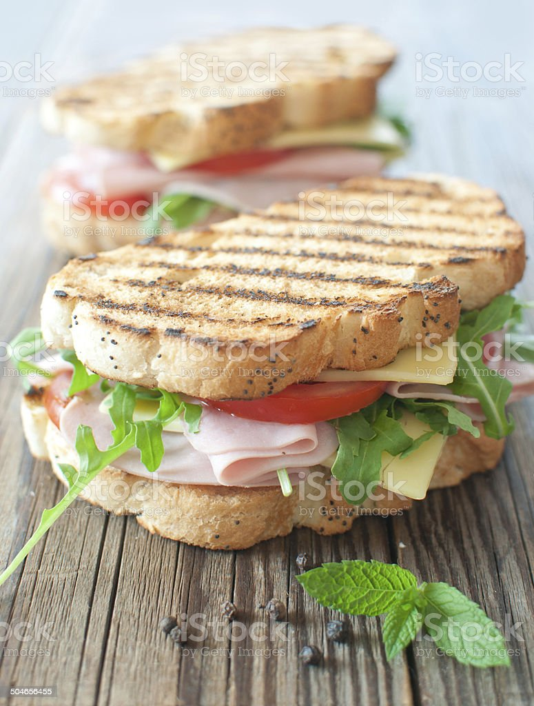 Grilled sandwiches stock photo