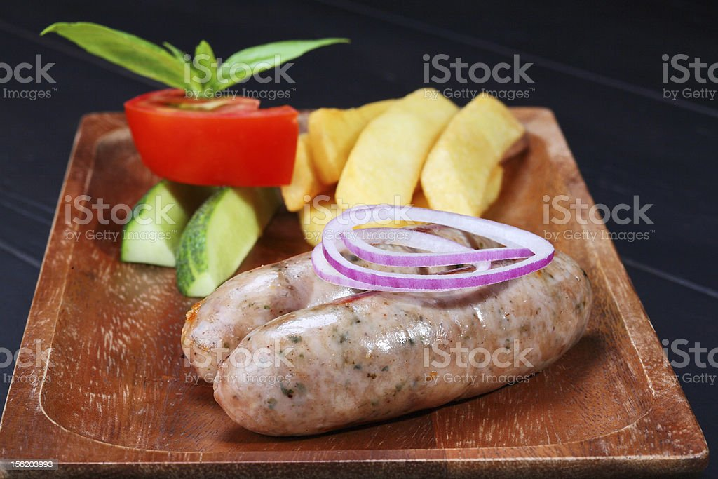 grilled sausages royalty-free stock photo
