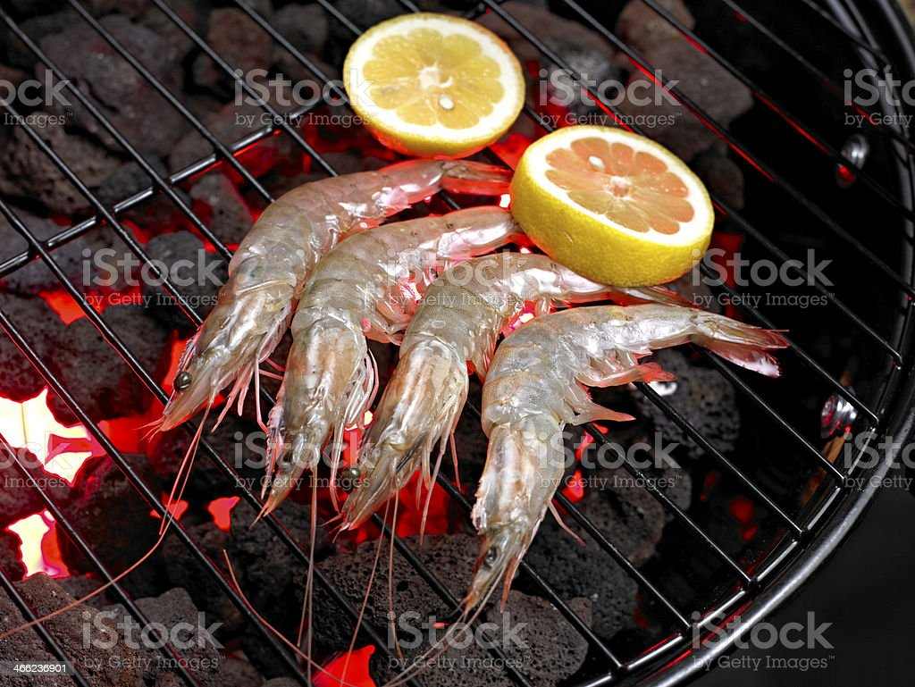Grilled Seafood royalty-free stock photo