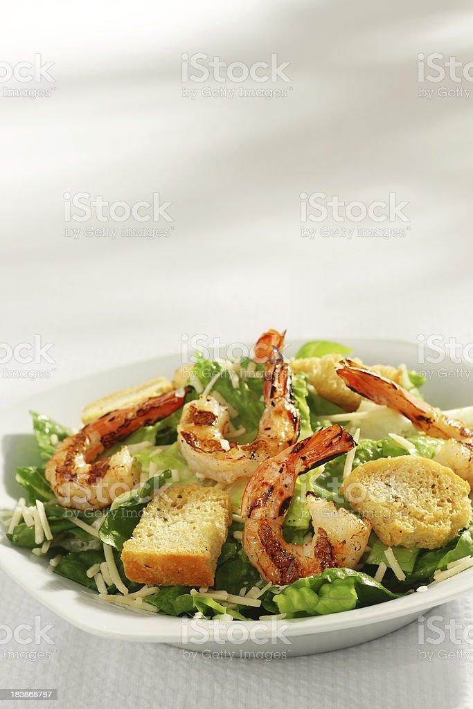 Grilled Shrimp Caesar Salad royalty-free stock photo