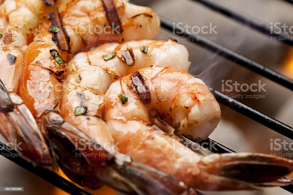 Grilled Shrimp royalty-free stock photo