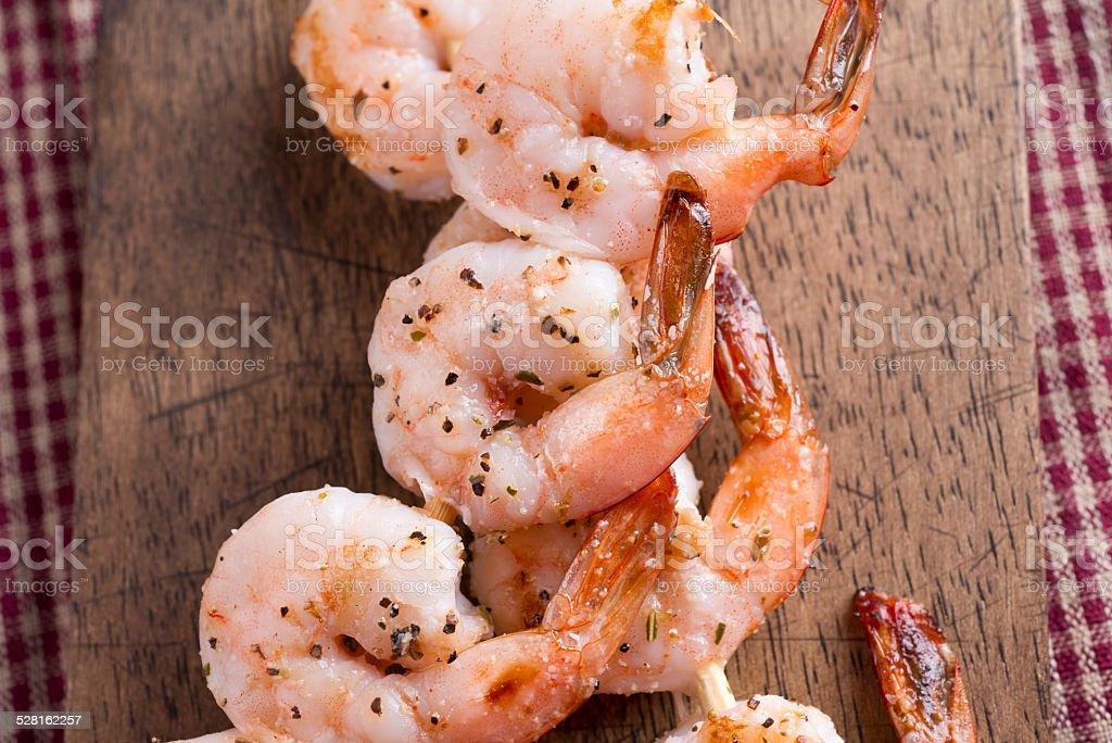 Grilled Shrimp stock photo