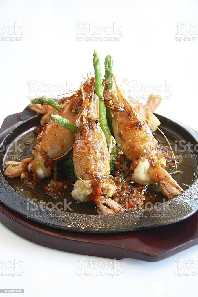 Grilled Shrimps royalty-free stock photo