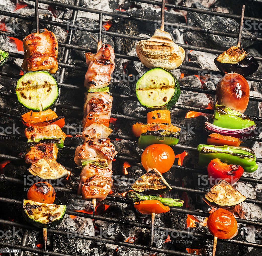 Grilled skewers royalty-free stock photo