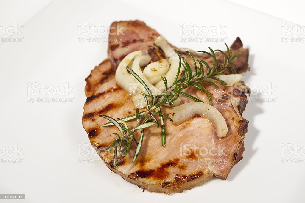 grilled smoked Pork Chops royalty-free stock photo