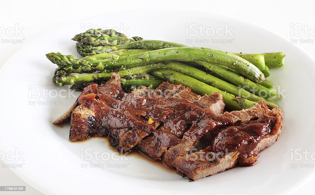 Grilled steak dinner royalty-free stock photo
