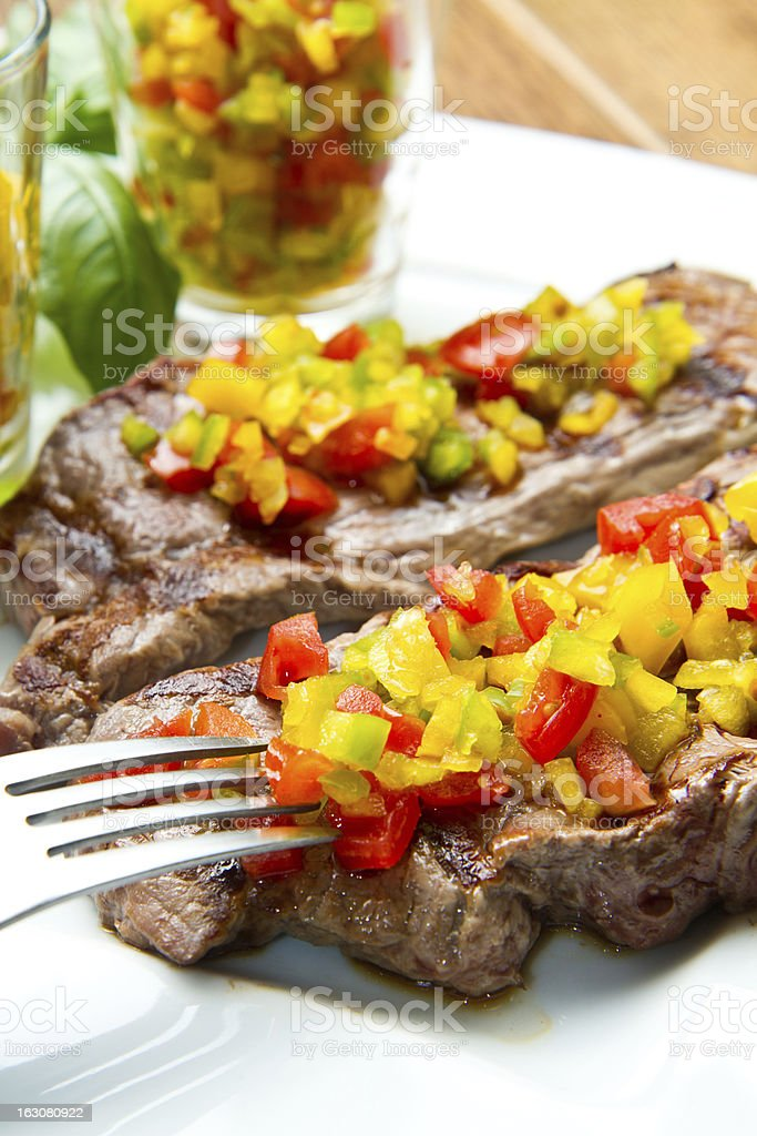 Grilled Steak Meat royalty-free stock photo
