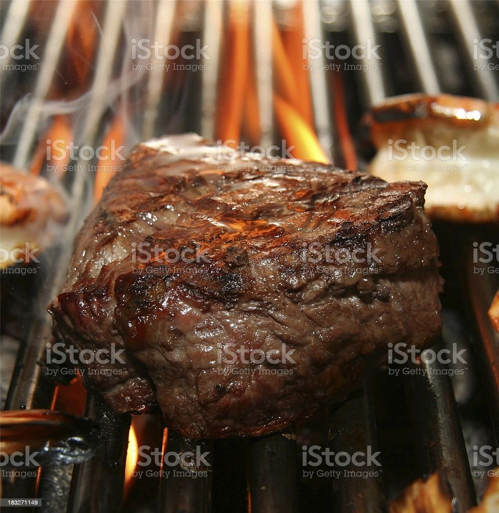 grilled steak mix royalty-free stock photo