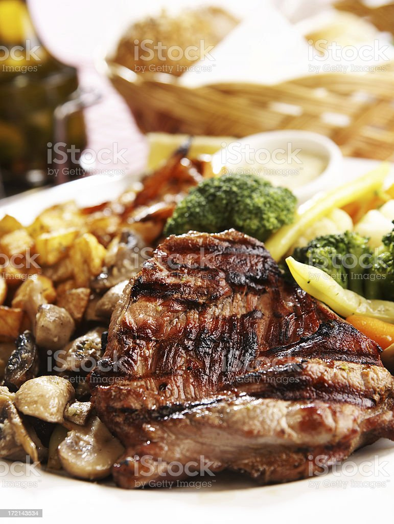 Grilled Steak royalty-free stock photo