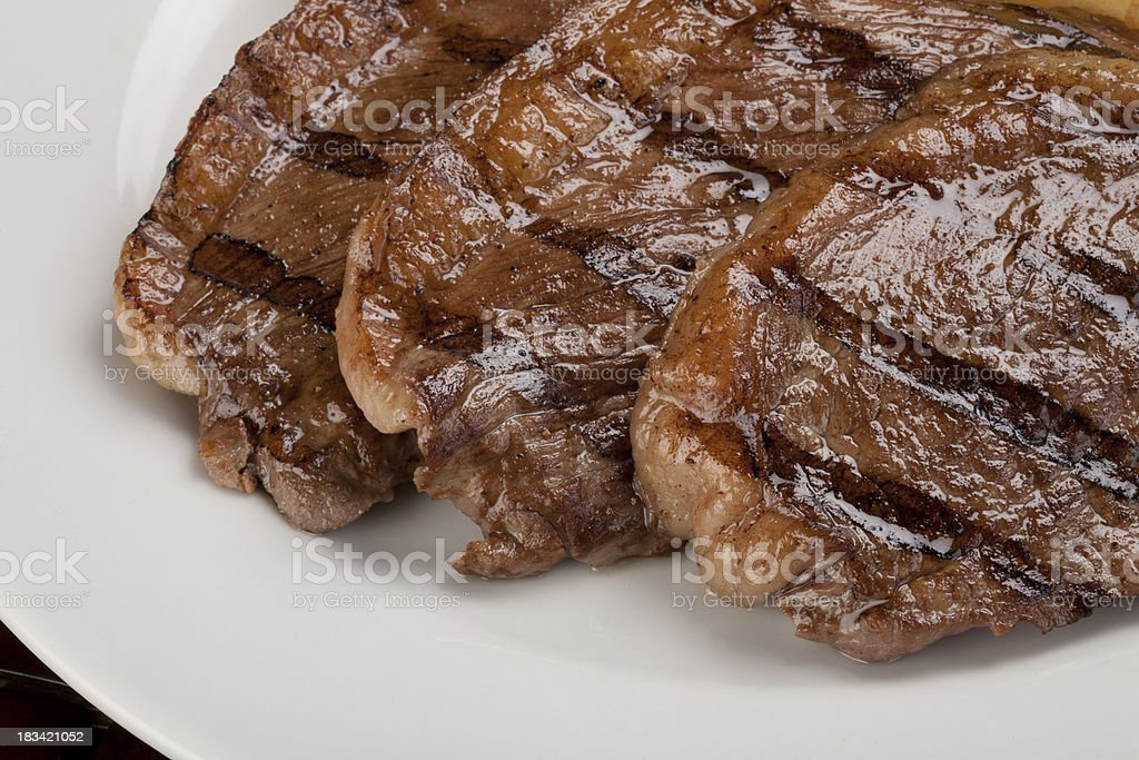 Grilled Steaks royalty-free stock photo