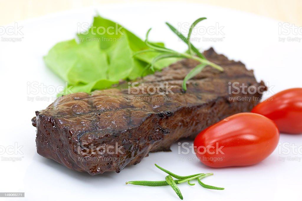 grilled strip steak royalty-free stock photo