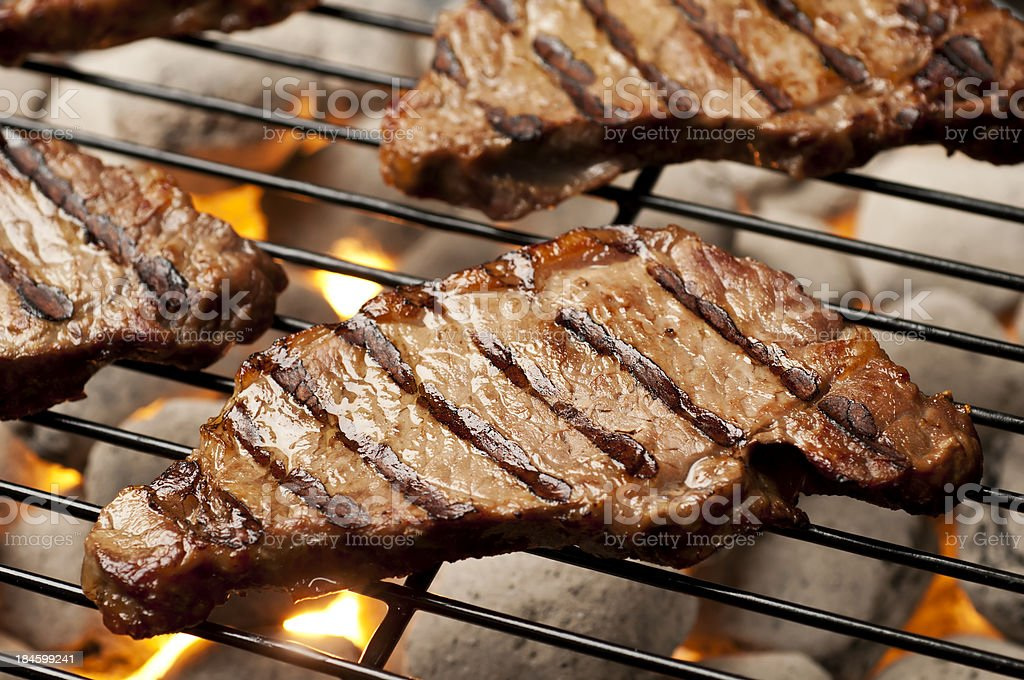 Grilled Strip Steak stock photo