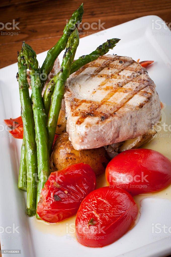 Grilled Swordfish stock photo