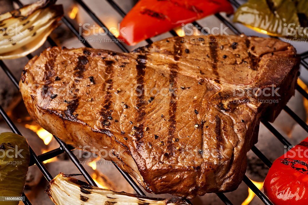 Grilled T-bone stock photo