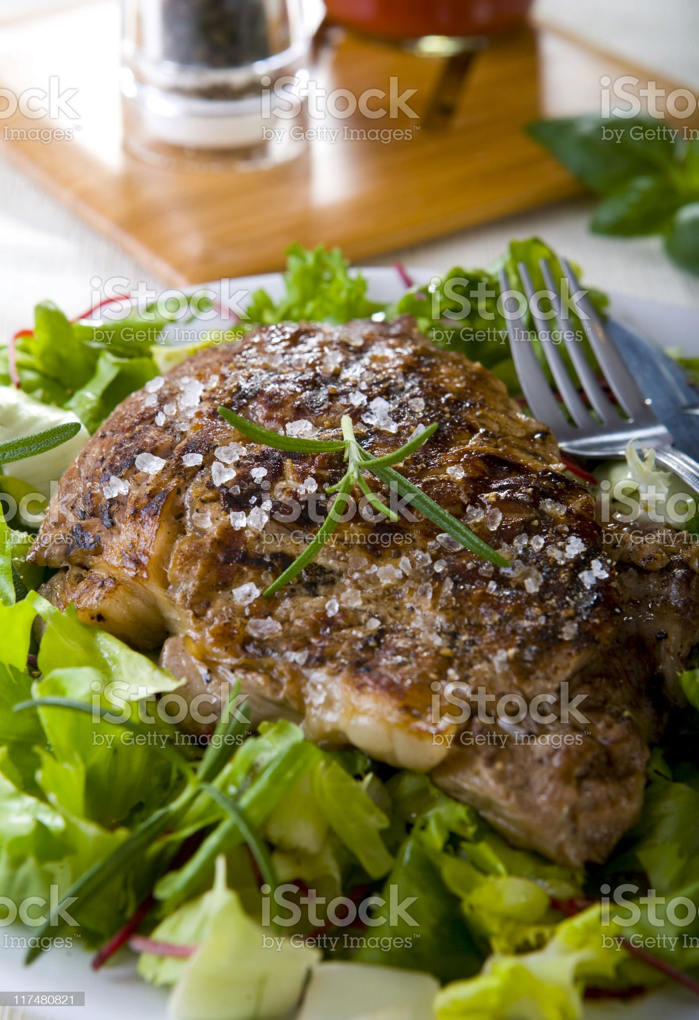 grilled t-bone steak royalty-free stock photo