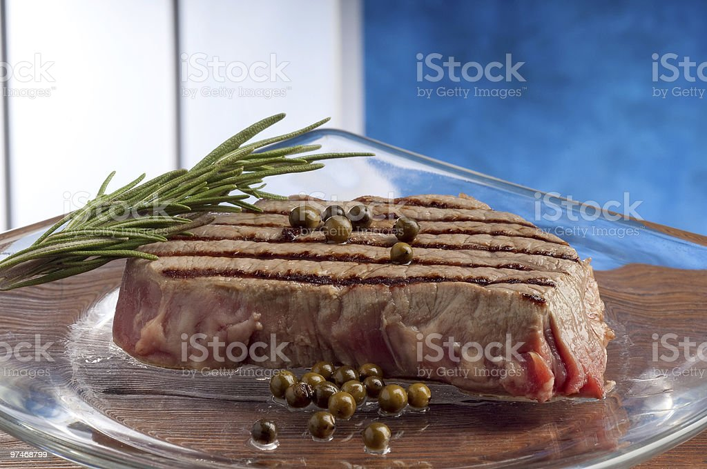 grilled tenderloin royalty-free stock photo