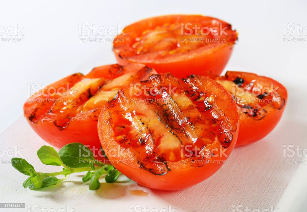 Grilled tomatoes royalty-free stock photo