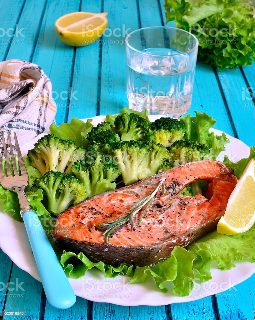 Grilled trout. stock photo
