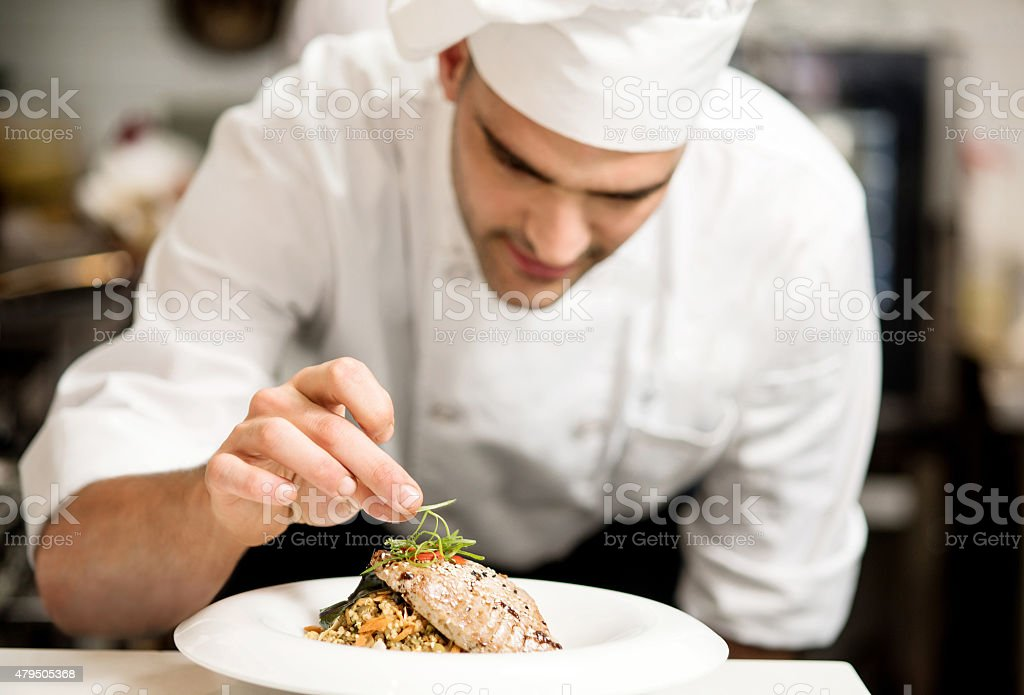 Grilled tuna fish with vegetables stock photo